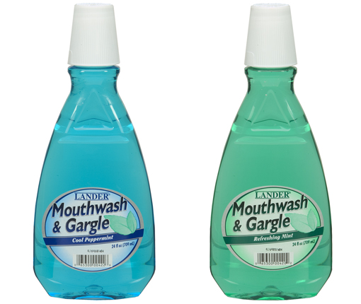 Picture of two bottles of mouthwash